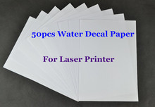 (50pcs/lot) Laser Water Transfer Paper For Candle Clear Color Cheap A4 Paper Water Slide Decal Paper Waterslide Decal Paper