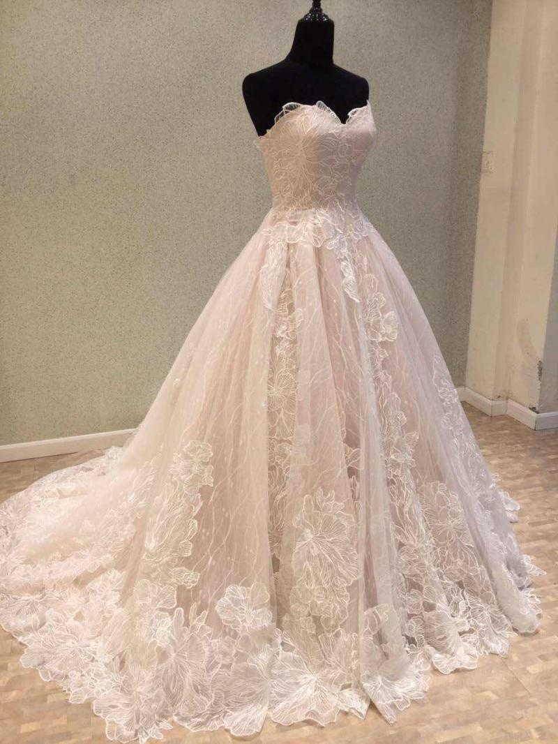 Nyaste Bröllopsklänning 2018 Vintage Lace Bride Dresses Korsett - Bröllopsklänningar - Foto 3