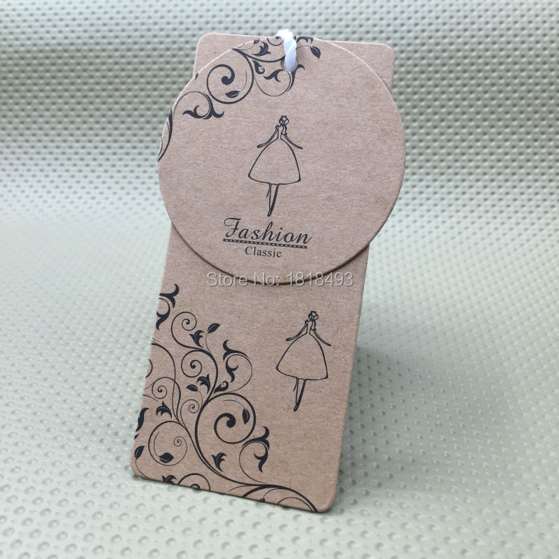 customize shape cutting labels/clothing round kraft paper hang tag/garment printed tags/cardboard tags/clothing label/trademark