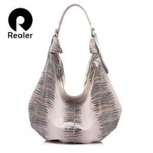 6c7be9c261927 REALER echtes Leder hobos tasche für frauen handtasche große einkaufstasche weibliche  große schulter ...
