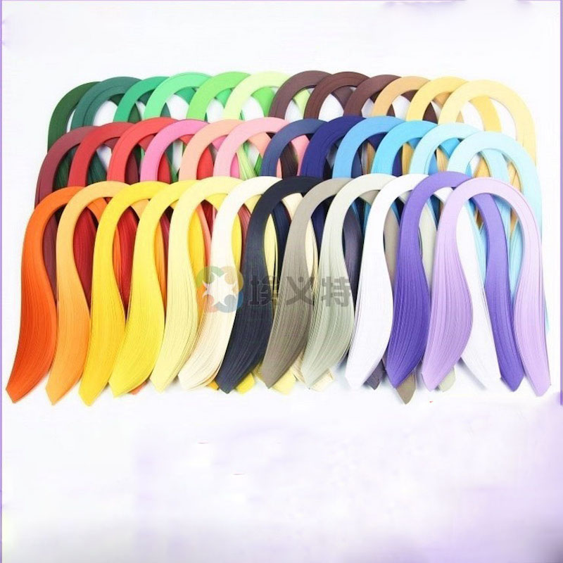 Hight Quality 5 MM Width * 54CM Length Quality Solid Color DIY Paper Strip Quilling Paper Handmade Paper Crafts For Scrapbooking