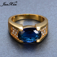Blue Big Zircon Stone Rings For Women