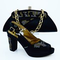 Мода Высокого Качества для Женщин Нагнетает Ботинки И Обувь Соответствия Набор Для партия Итальянский Высокий Каблук Обуви И Сумка Набор Для Свадьбы CP63010