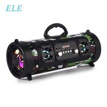 Ele eleoptionポータブルbluetoothワイヤレススピーカー音楽ステレオサブウーファースピーカー移動ktv 3Dサウンドfmラジオ