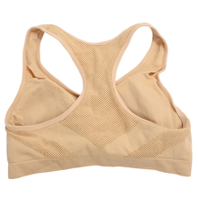Hot Absorb Sweat Quick Drying Professional Sports Bra Top yoga fitness Vest jogging Wireless Running Underwear for Women (M)