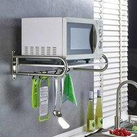 Kitchen Shelf Stainless Steel Microwave Shelf Wall mounted Oven Shelf Kitchen supplies Storage Rack and Holder
