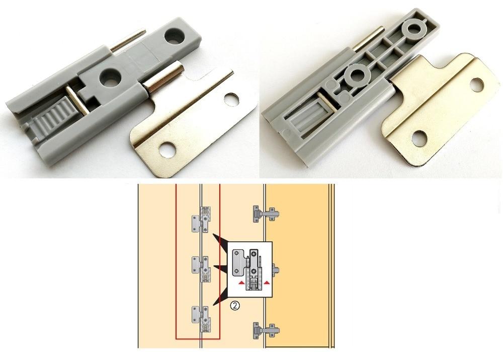 2Pcs/Lot sliding Slide folding door hinge closet wardrobe door slide out fold down ironing iron board closet wardrobe cloakroom concealed