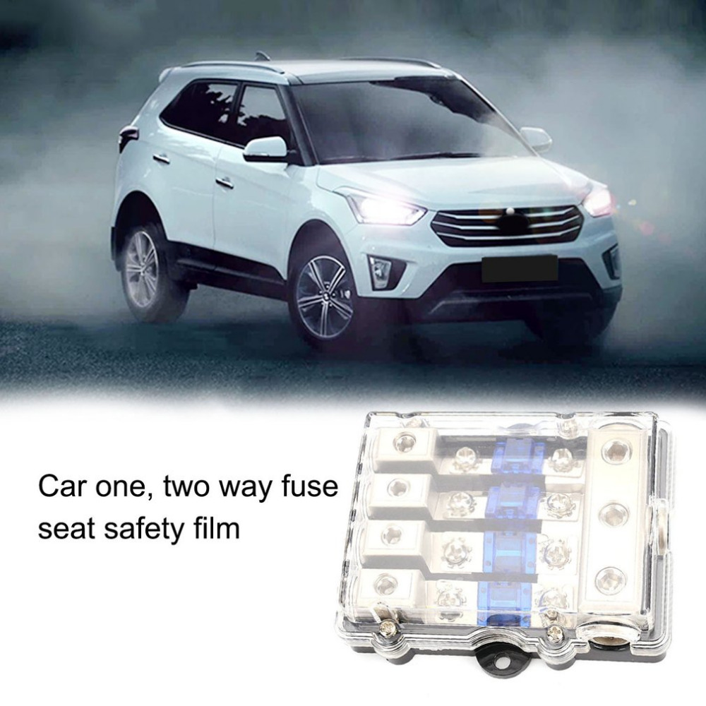 hight resolution of universal car stereo audio power fuse box waterproof blade fuse holder block 1 in 2 3 4 ways out auto boat fuse box hot selling in fuses from automobiles