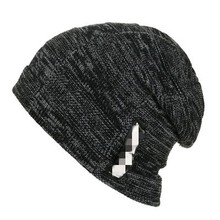 Brand Bone Mens Winter Hat Knitted Wool Beanies Men Hip-Hop CapTurban