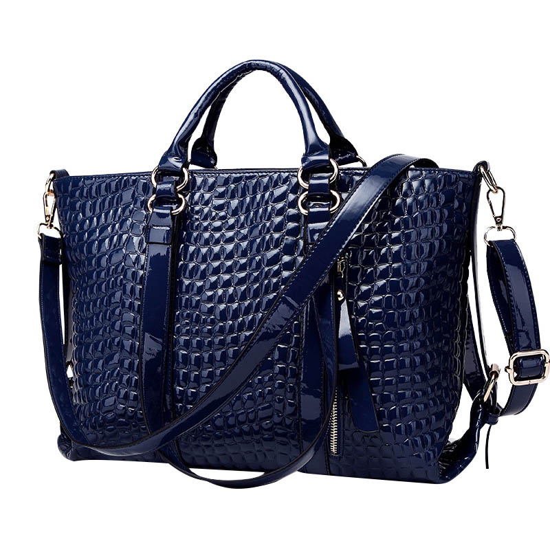 Brand Designer Solid Handbags Large Capacity Crossbody Bag Totes New Women Alligator Leather Pattern Luxury Style Shoulder Bag