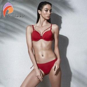 Image 3 - Anadzhelia סקסי תחבושת Push Up ביקיני סט מוצק בגדי ים נשים 2020 קיץ שתי חתיכה בגד ים חוף רחצה חליפת AK5922 2