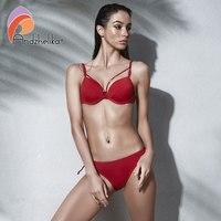 Anadzhelia Women Bikini 2018 Summer New Sexy Bandage Bikini Set Large Cup Push Up Swimwear Brazilian