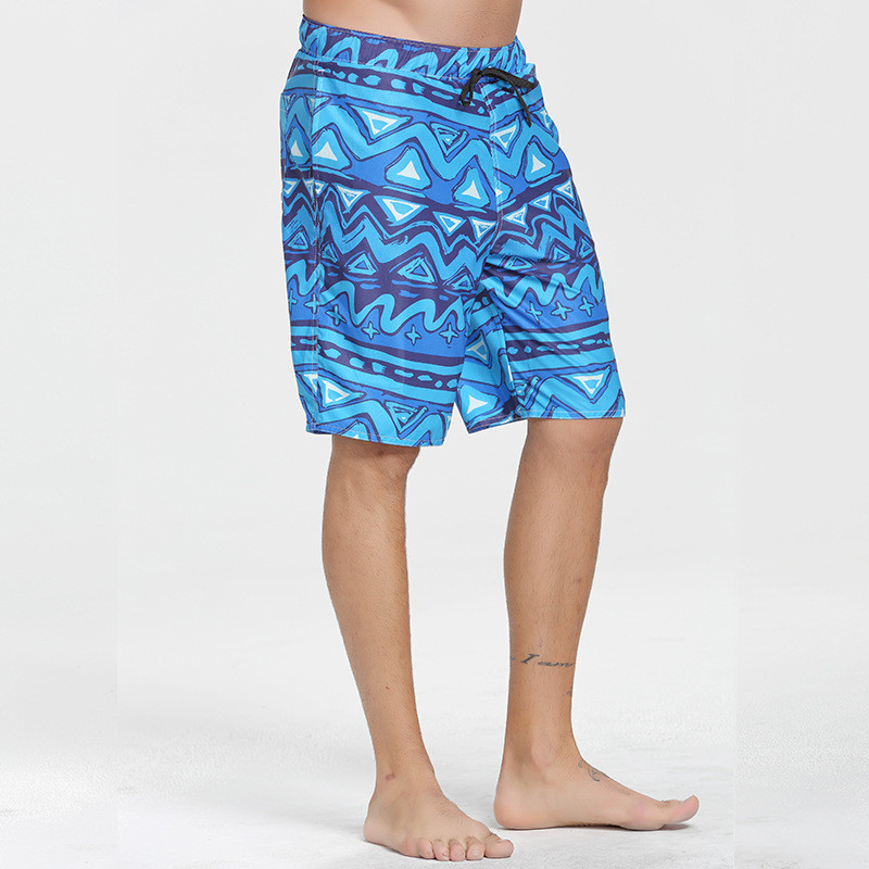 2017 New Arrival Mens Polyester & Spandex Fifth Pants Trousers Man Summer Beach Printed Shorts Pants Plus Size Boardshort XXXL