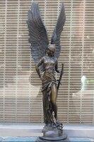 Bi002260 25 Western Art Бронзовый matrble крыло статуя греческий мудрость богиня красоты Афина