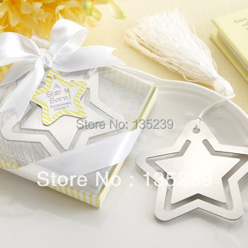 20 pieces Stainless Star Bookmark for Wedding Party, Baby Shower Favors Box, decoration for birthday, guest gift