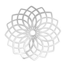 DoreenBeads Stainless Steel Embellishments Findings Flower Silver Tone Hollow 5.1cm(2″)x 5.1cm(2″),Thickness: 0.3mm,10 PCs