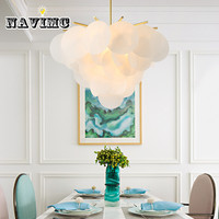 American luxury LED chandelier Living Room French pastoral Princess children's bedroom restaurant decorative Shell lamps