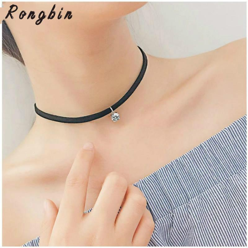 MingJun Small Lightning Bolt Choker Necklace Clavicle Chain Charm Necklace for Women Lady Girls