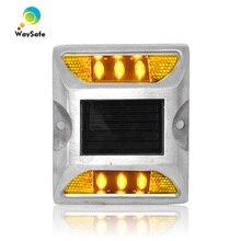 Лидер продаж, желтый светодиодный алюминиевый 3 м отражатель Солнечный Дорожный маркер безопасности дорожного движения СВЕТОДИОДНЫЙ дорожный отражатель для продажи