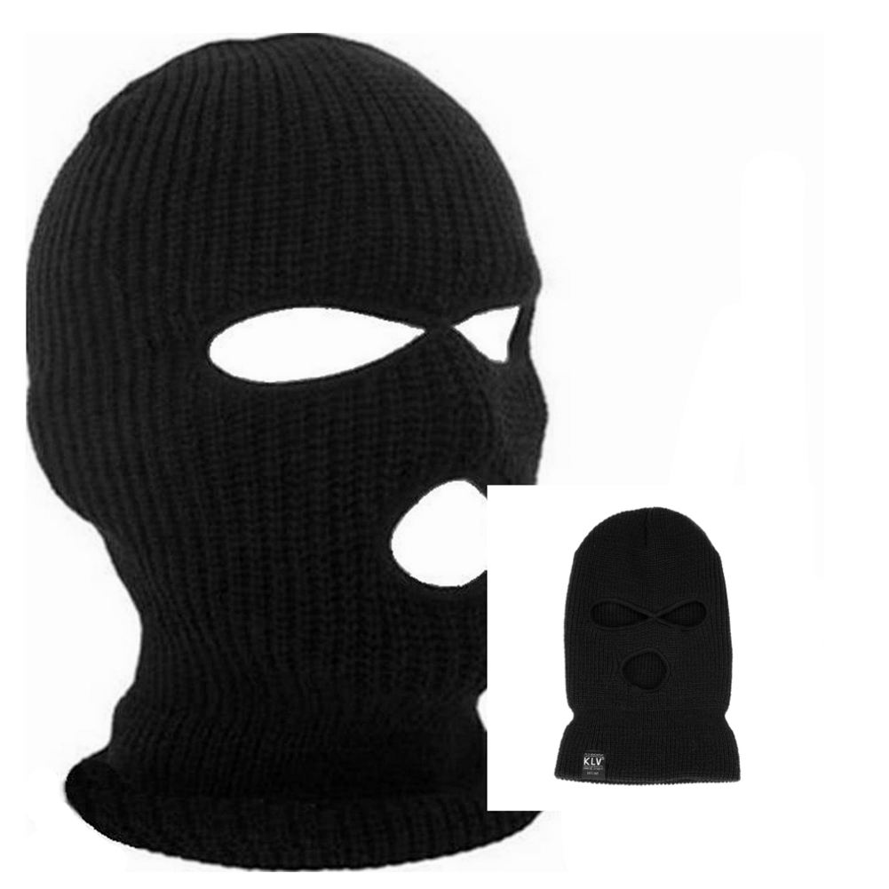 Black Cycling Full Face Mask Warm Winter Army Ski Hat Neck Warmer Face Protector Face Mask for Motorcycle Road Mountain Bike men s winter warm black full face cover three holes mask cap beanie hat 4vqb