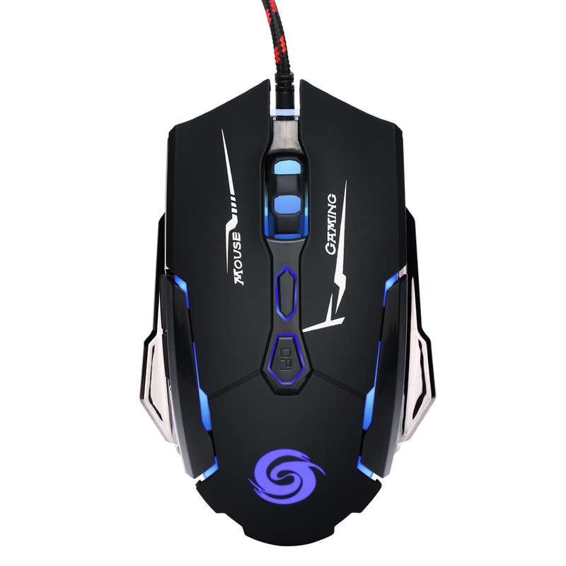 K1015 Usb Wired Mouse 7 Buttons 4 Colors Led 4000 Dpi Adjustable Optical Gaming Mouse Gamer Professional Gaming Mouse Mice Wir