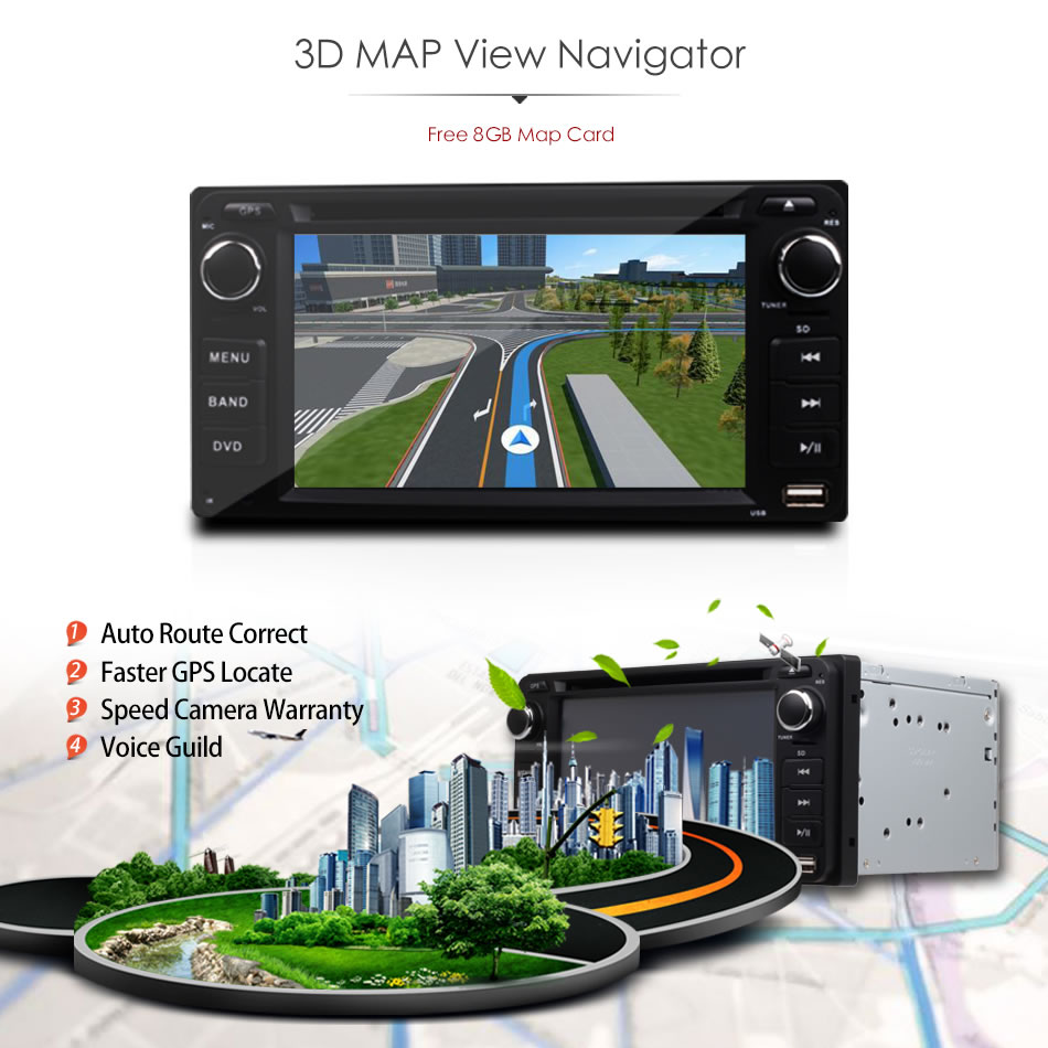 Daş DVD-də Universal 2Din Avtomobil Toyota RAV4 COROLLA EX CAMRY - Avtomobil elektronikası - Fotoqrafiya 5