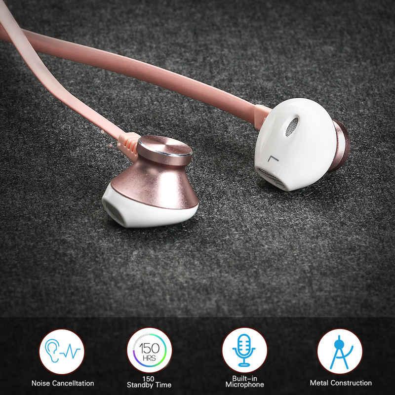 Langsdom różowe złoto słuchawki sportowe Bluetooth słuchawki douszne do telefonu Xiaomi Bass bezprzewodowy zestaw słuchawkowy zestaw słuchawkowy z mikrofonem fone de ouvido