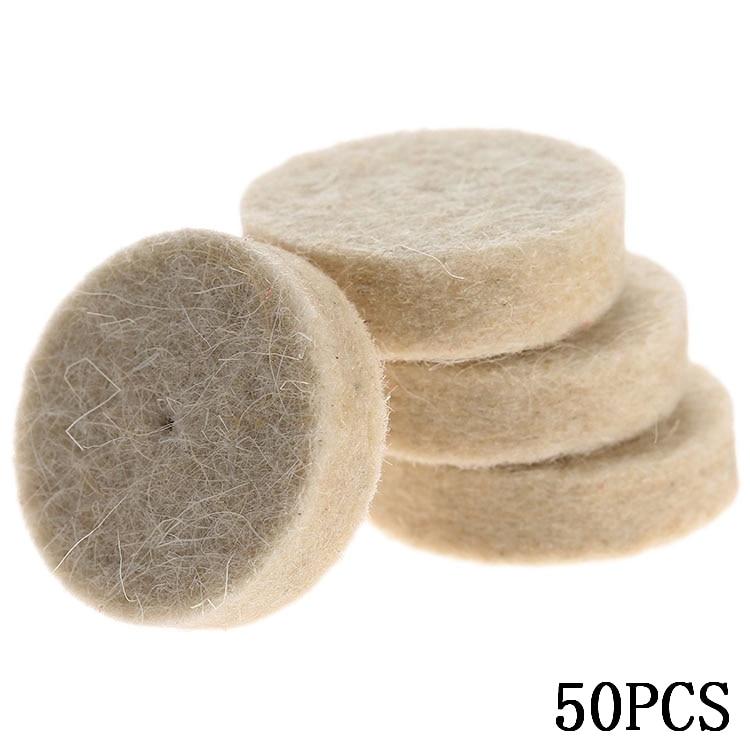 50Pcs 25mm Dremel Accessori Feltro di lana Lucidatura Lucidatura Mola - Utensili abrasivi - Fotografia 6