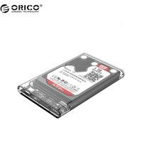 ORICO 2139C3 Type C Harde Schijf Behuizing UASP 2.5 inch Transparante USB3.1 Hard Drive Behuizing Ondersteuning UASP Protocol