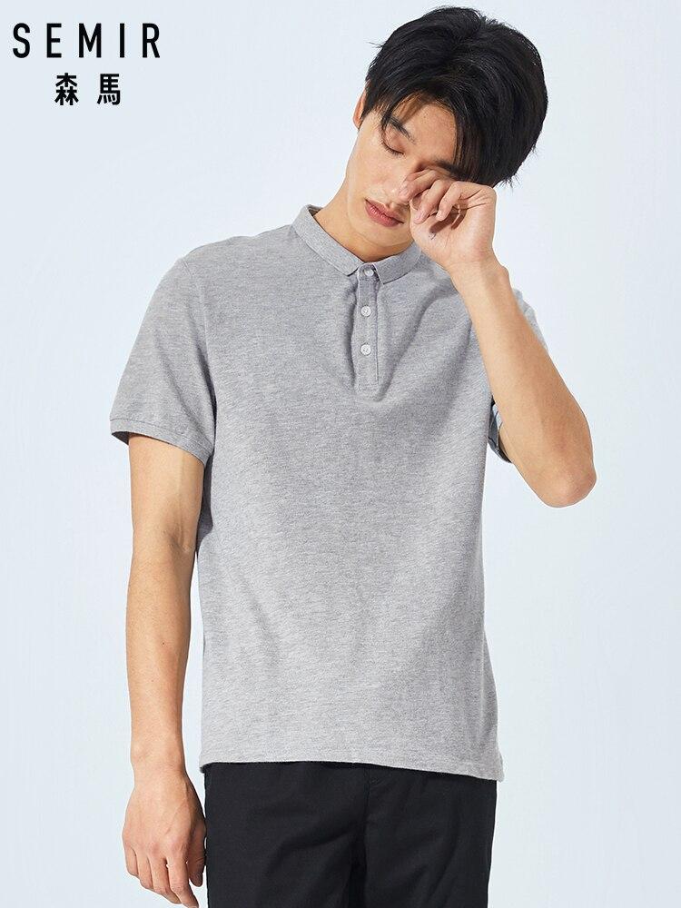 SEMIR 2019 New Men's   Polo   Shirts fashion 100% Cotton embroidery militare brand short sleeve   polo   shirt men