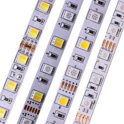 5 м 5050 SMD Светодиодная лента RGB RGBW (RGB + белый) RGBWW (RGB + теплый белый) RGBCCT гибкий светодиодный светильник 5 м/300 светодиодный s 12 в 24 в дома
