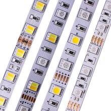 Tira de led rgb rgbw, 5m 5050 smd (rgb + branco) rgbww (rgb + branco quente) rgbcct luz de led flexível, 5m/300 leds 12v 24v casa