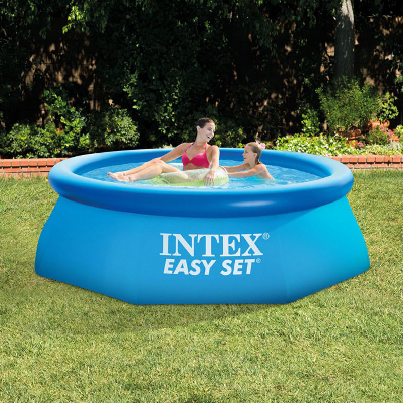 INTEX 28110 piscine gonflable familiale épaississante 244*76 CM baignoire pliable adulte piscine à balles Marine pour enfants avec pompe
