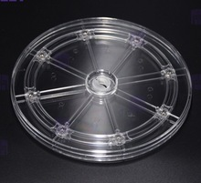 8inch (diameter:200mm) Transparent acrylic turntable display swivel plate furniture parts 270mm diameter y shape underside media galanz panasonic microwave glass plate oven turntable genuine original parts