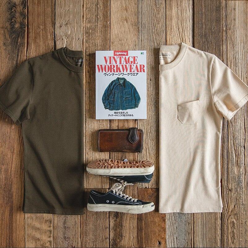 MADEN Men's Regular Fit Short Sleeve Crewneck Heavy Cotton Military Summer T-Shirt