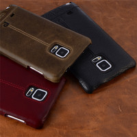 Pierre Cardin Echtem Leder Für Samsung Galaxy Note 4/Anmerkung 5/Note 7/Anmerkung 8 Weinlese Dünnen harte Rückseitige Abdeckung Kästen Freies Verschiffen