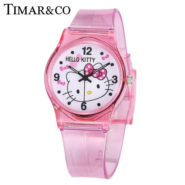 2018 Mouse Sports Watches Women Ladies Kids Hello Kitty Cartoon Watch with Silic