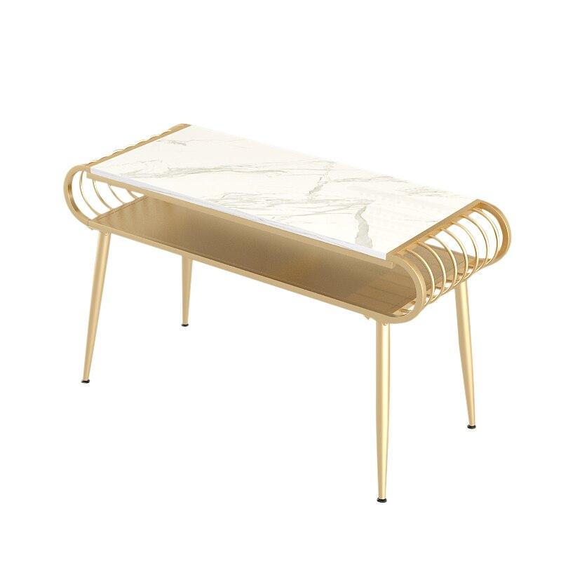 Луи мода маникюрные столики, стул se, маникюр, железный мрамор, двойной - Цвет: S1length100