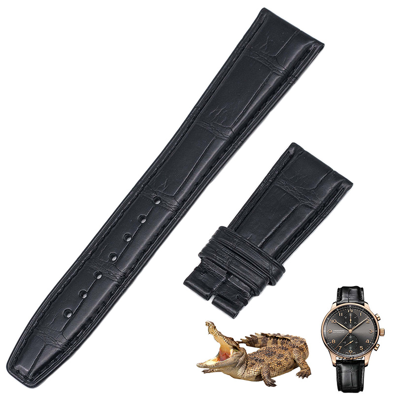 Applicable to all countries Portugal timing series American crocodile leather watch belt IW371446 philips avent пустышка серия classic scf170 22 розовая сиреневая 2 шт 6 18 мес