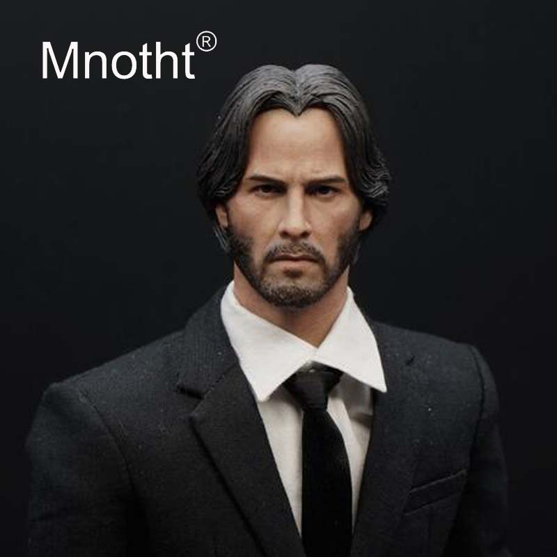 Keanu Reeves Head Sculpt 1 6 Scale Male Soldier Resin Head Carving for 12in Action Figure