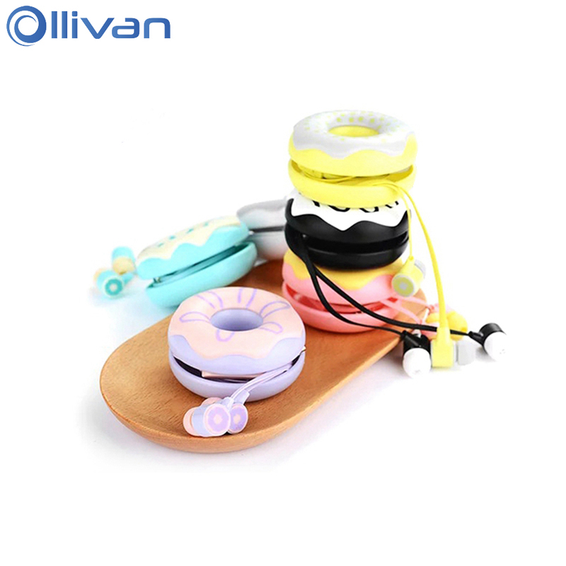 KEEKA LOVE ME Donuts Macarons Earphones Cute Girls Earbuds With Microphone Lovely Headsets With Earphone Case For Children Kids