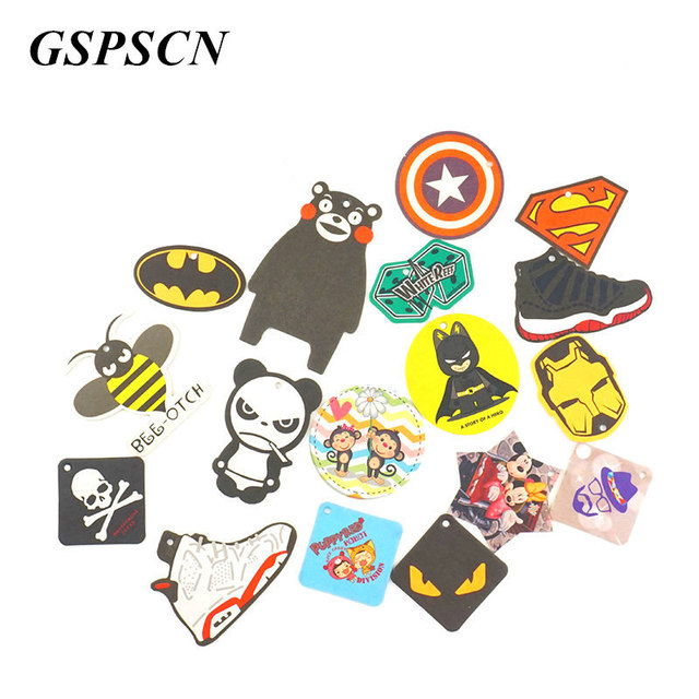 2pcs Truck Car Hanging Perfumed Fragrance Papers For Hero Air Freshener Car Perfume  Air Freshener Captain America Superman 1