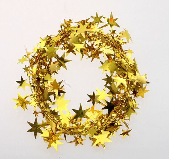 Us 1 46 32 Off 7 5m 24 6ft Star Christmas Garland Gold Silver Red Christmas Tree Decoration Ornament Free Shipping In Party Diy Decorations From