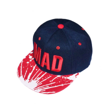 Summer 2015 New Baseball Cap Letters MAD Children Color Matching Embroidery Flat Along Hip-hop for Boy and Girl
