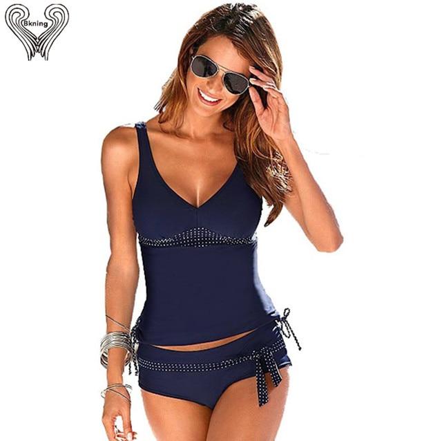 90dc698c9b S-5XL Tankini Swimsuits Women Plus Size Tankinis With Shorts Push Up  Swimsuit Female Large Size Swimwear Dots Vintage Swim Suits