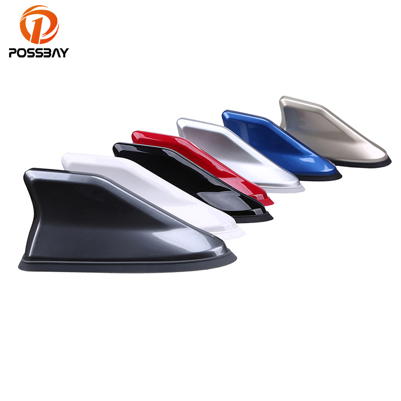 POSSBAY Universal FM Signal Amplifier Car Radio Aerials Shark Fin Antenna Car Roof Decoration Auto Side Replacement все цены