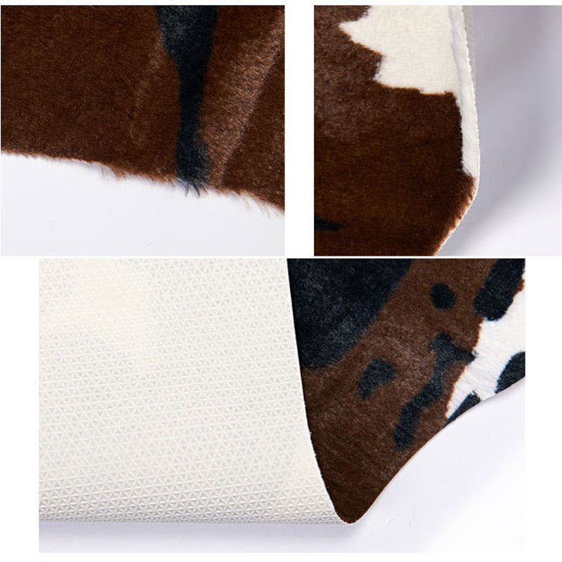 Imitation Animal Skin Carpet 140*160cm Non-slip Cow Zebra Striped Area Rugs and Carpets For Home Living Room Bedroom Floor Mat