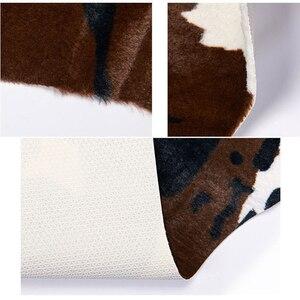 Image 5 - Imitation Animal Skin Carpet 140*160cm Non slip Cow Zebra Striped Area Rugs and Carpets For Home Living Room Bedroom Floor Mat