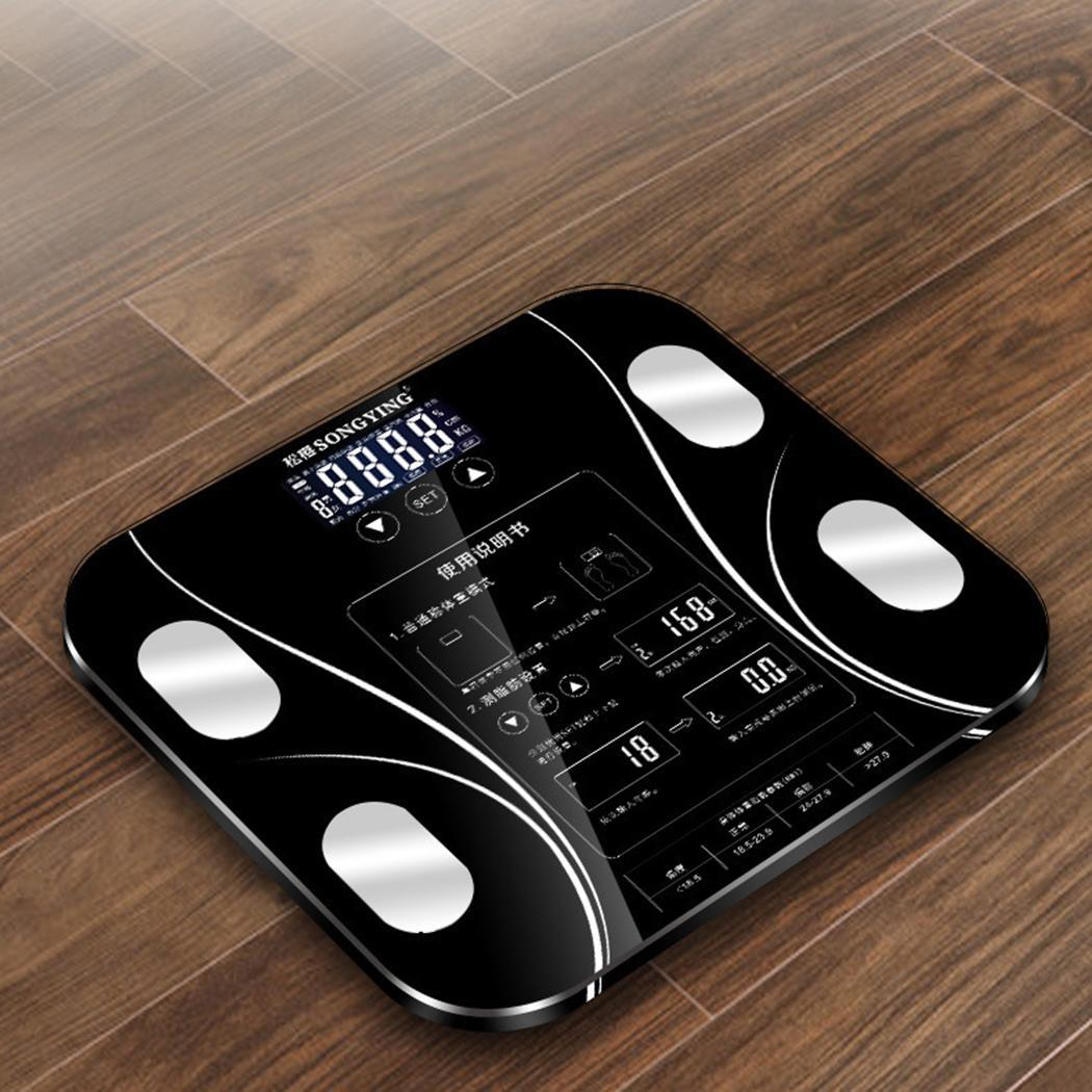 180KG Digital Smart Touch Body Fat Scale Measures Weight 0.1 kg Fat Water Kg Muscle 5-180 kg Mass(China)