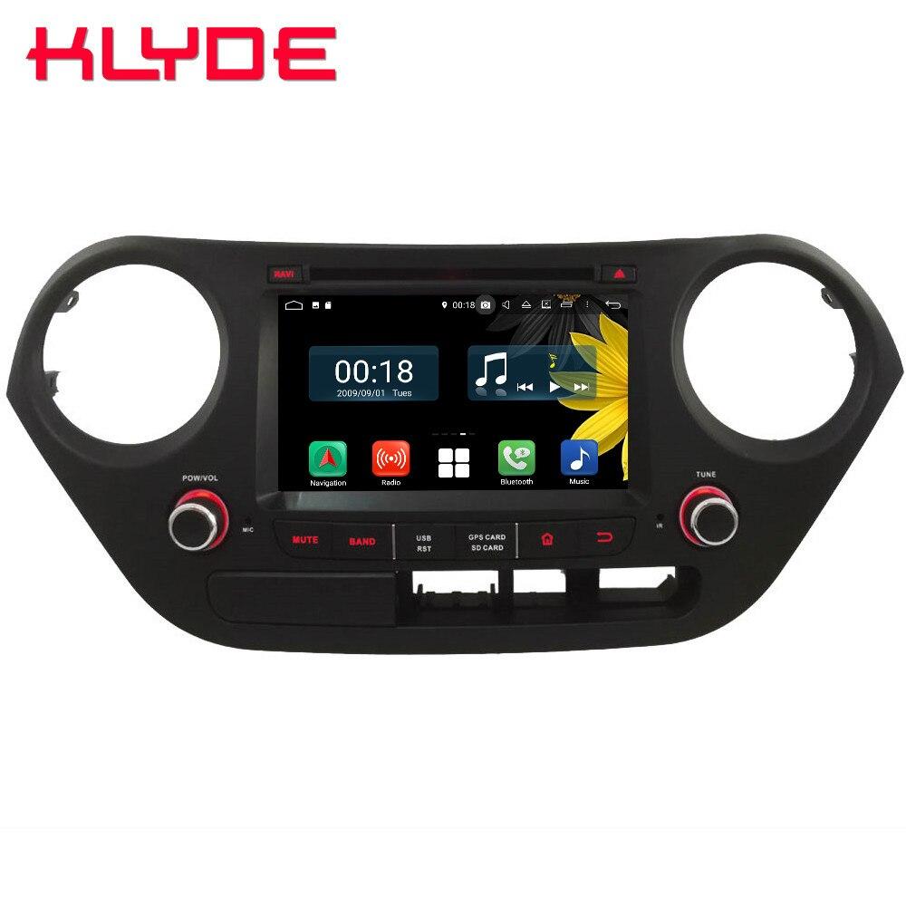 Octa Core 4G WIFI Android 8.1 4GB RAM 64GB ROM RDS BT Car DVD Player Radio GPS Glonass Navigation For Hyundai I10 2013 2017 LHD